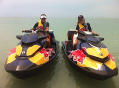 - Red Bull North America is utilizing their new Sea-Doo GTI and RXT watercraft for sharing the Red Bull love with boat-to-boat product sampling in South Florida. The team praises BRP's intelligent Brake and Reverse is being invaluable in their work.