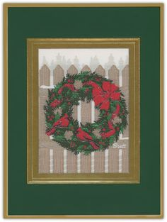 Decorated Fence Tapestry Holiday Cards