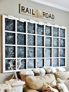DIY Chalkboard Calender made from an old window.  Come vote for this and other amazing DIY projects in the Makeover Madness Challenge:  http://www.bhg.com/blogs/better-homes-and-gardens-style-blog/makeover-madness/