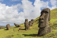 The Easter Island heads have bodies, too