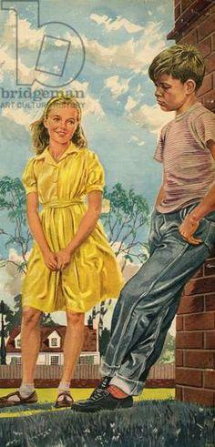 John Bull, Magazine Plate, UK, 1950s Family Humor, Vintage Magazines, United Kingdom, 1950s, Plate, The Unit, Funny, Painting, Art