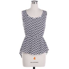 #ZigZag #Chevron #Peplum Top