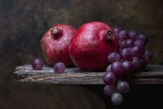 Three Fruit Still Life Photography | Grapes with Pomegranates | Flickr - Photo Sharing!