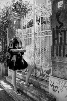 Black & white #streetstyle #muserebelle #chanel #shirtdress #superga #ms