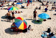 Rockaway Beach Umbrellas via Smith & Ratliff