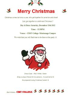 CIMT students, you are welcome to come and join us for the Christmas celebration 2012 at our Mississauga Malton location.