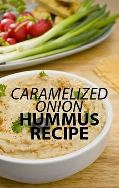 Cook a batch of caramelized onions to make this delicious party snack of Caramelized Onion Hummus, with a little help from ranch seasoning mix. http://www.recapo.com/the-chew/the-chew-recipes/carla-hall-the-chew-caramelized-onion-hummus-recipe-with-ranch-mix/