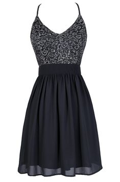 Glisten To Me Sequin Dress in Charcoal