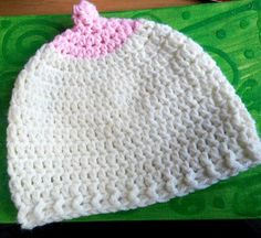 Crochet Baby Boobie Hat. pro-public breastfeeding. by handyhooker