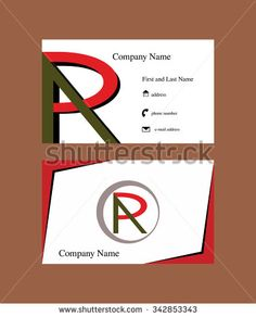 Business Card With G Letter Logo And An Oil Drop Falling From