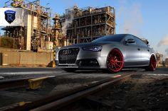Matte Audi A5 Sportback with the Rohana RF1 wheels