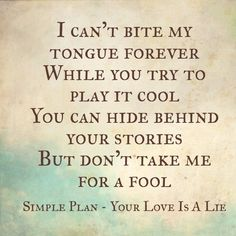 If anyone is really interested this song has been my Main Inspiration for Ever and Jared's relationship in TLM; Simple Plan Your Love Is A Lie