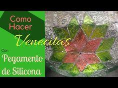 Como Hacer Venecitas o Teselas Transparentes con Pegamento de Silicona, imitación vidrio cortado - YouTube