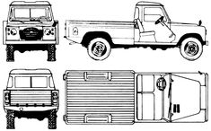 Santana 109 Pick Up Blue Prints, Mini Trucks, Brand Inspiration, Car Sketch, Defenders, Land Rover Defender, Pick Up, Cars And Motorcycles, Scale