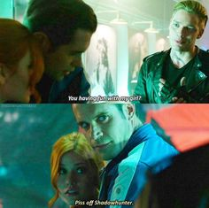 Season 1 Episode Jace Clary and Jace act like they a in a relationship with each other a couple of times Shadowhunters Clary And Jace, Clary Et Jace, Alec And Jace, Shadowhunters Tv Series, Immortal Instruments, Mortal Instruments Books, Shadowhunters The Mortal Instruments, Cw Series, Book Series