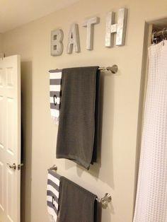 Our new bathroom! Bathroom DIY sign.