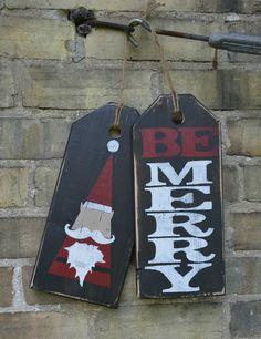 Be Merry Christmas sign. Holiday front door by MoonenDavisdeSIGN