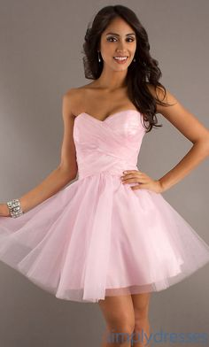 Strapless Short Pink Party Dress by LA Glo