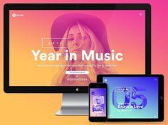 Spotify – Year in Music by @destrokkk  #ui #ux #design #webdesign