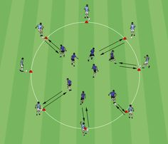 Circle Passing Warm-Up - Competitor Spot Soccer Warm Up Drills, Soccer Practice Drills, Football Coaching Drills, Soccer Warm Ups, Soccer Training Drills, Soccer Workouts, Soccer Skills, Football Warm Up, Football Soccer