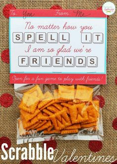 Valentine Scrabble Snacks