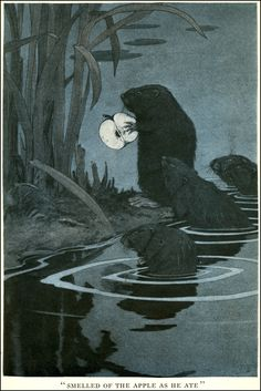 Beavers: art by CHARLES LIVINGSTON BULL, 1874 ~ 1932  Folk of the Woods by Lucius Pardee  Published by Doubleday, Page & Co ~ 1913