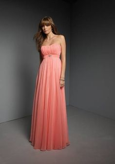 2011 Inexpensive orange chiffon Customer-Made Design Bridesmaid Dress