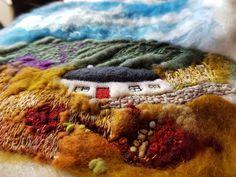 Felt Pictures, Wool Art, Textile Art, Needle Felting, Landscapes, Textiles, Projects, Fun, Painting