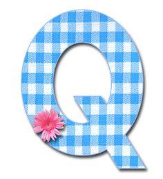 Blue-gingham-Q-png.png 1,200×1,321 pixels