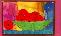 There are times that it is impossible to contain my excitement over the art my students create, their wonderful creativity and the formulas . Fall Art Projects, School Art Projects, Cezanne Art, Paul Cezanne, First Grade Art, Apple Art, France Art, Art Lessons Elementary, Autumn Art