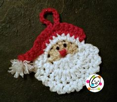 Santa Ornament free crochet pattern - Free Crochet Ornament Patterns - The Lavender Chair
