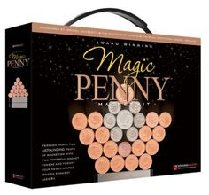 This fun MAGIC PENNY MAGNET SET is a great way to get them away from the TV, video games, or the computer. Learn about the laws of magnetism as well as the rules of geometry. The kit includes an instruction book of 44 activities as well as 32 British pennies, a bonus US penny, and 2 strong magnets.