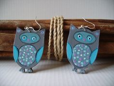 Owl earrings can be bought on Etsy