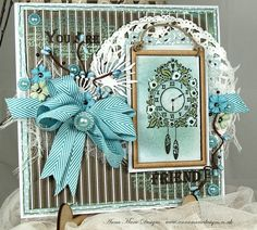 Anna Marie Designs Shabby Chic Cards, Vintage Shabby Chic, Crafty Projects, Projects To Try, Cards For Friends, Friend Cards, Masculine Birthday Cards, Pretty Cards, Christmas Cards