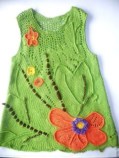 Beautiful crochet dresses for kids Freeform Crochet, Irish Crochet, Crochet Yarn, Russian Crochet, Crochet Girls, Crochet For Kids, Knitting For Kids, Baby Knitting, Knitted Baby