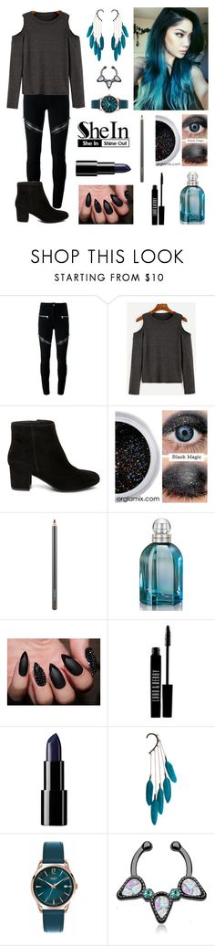 """""""Teal Shein Sweater"""" by roseforbes ❤ liked on Polyvore featuring Givenchy, Steve Madden, MAC Cosmetics, Balenciaga, Lord & Berry, Anni Jürgenson and Henry London"""