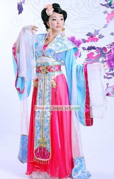 b0eb2db0c5 Ancient Chinese Imperial Princess Costume and Hair Accessories Complete Set