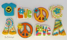 I'm having so much fun with the Theme, seems I'm living in funky town these days. A party is not complete without cookies and I fel. Cookies For Kids, Cute Cookies, Easter Cookies, How To Make Cookies, Cupcake Cookies, Sugar Cookies, Birthday Cookies, Birthday Bash, Cupcakes