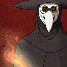 Print from yayforfidgetart on Etsy: The plague doctor