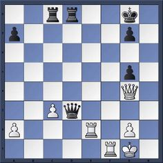 Chess & Strategy daily puzzle. White to play and win in 2 moves. How should white proceed? Solution on http://www.echecs-et-strategie.fr/2011/08/les-blancs-jouent-et-gagnent-en-2-coups.html  Gamboa 1-0 Zabaleta, Cali 1999