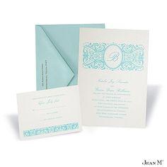 Ecru Shimmer Wedding Invitation Card