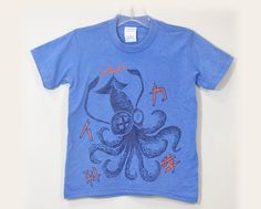 Mad Science Squid boy's T shirts by namu on Etsy, $22.00