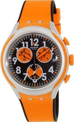 Swatch Men's Irony YYS4003 Orange Rubber Swiss Quartz Watch in Jewelry & Watches, Watches, Parts & Accessories, Wristwatches | eBay