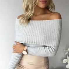 Sophia off the shoulder knotted sweater top