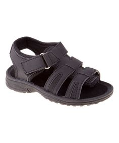 Black Three-Strap Sandal