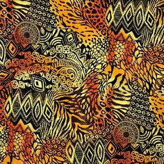 African inspired animal skin with tribal print.