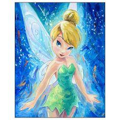 Peter Pan Tinker Bell Fairest Fairy Canvas Giclee Print