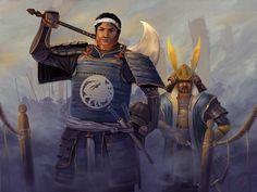 Intimidation Tactic by Fantasy Heroes, Fantasy Warrior, Fantasy Rpg, Medieval Fantasy, Character Concept, Character Art, Character Design, Oriental, Samurai Artwork
