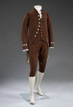 Suit, about 1780, France, wool; buttons: England (possibly Birmingham or Wolverhampton); cut steel. Museum no. T.10-2010, © Victoria and Albert Museum,