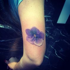 Violet Tattoo. Idea for my next tattoo. I would want a smaller one on the inside of my wrist.
